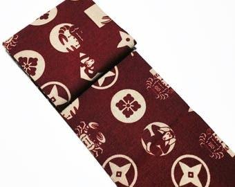 Shinpanki Judge Flag bag / Japanese fabric / Martial arts bag / Japanese textiles / Traditional Japanese culture / Sensei gift
