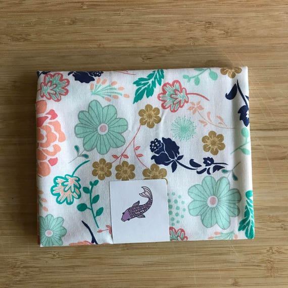 """Cloud9 Premium Cotton Fabric Fat Quarter - Premium Designer Fabric - Quilting Fabric - Fat Quarters 18"""" x 21"""" Mint Floral Design"""