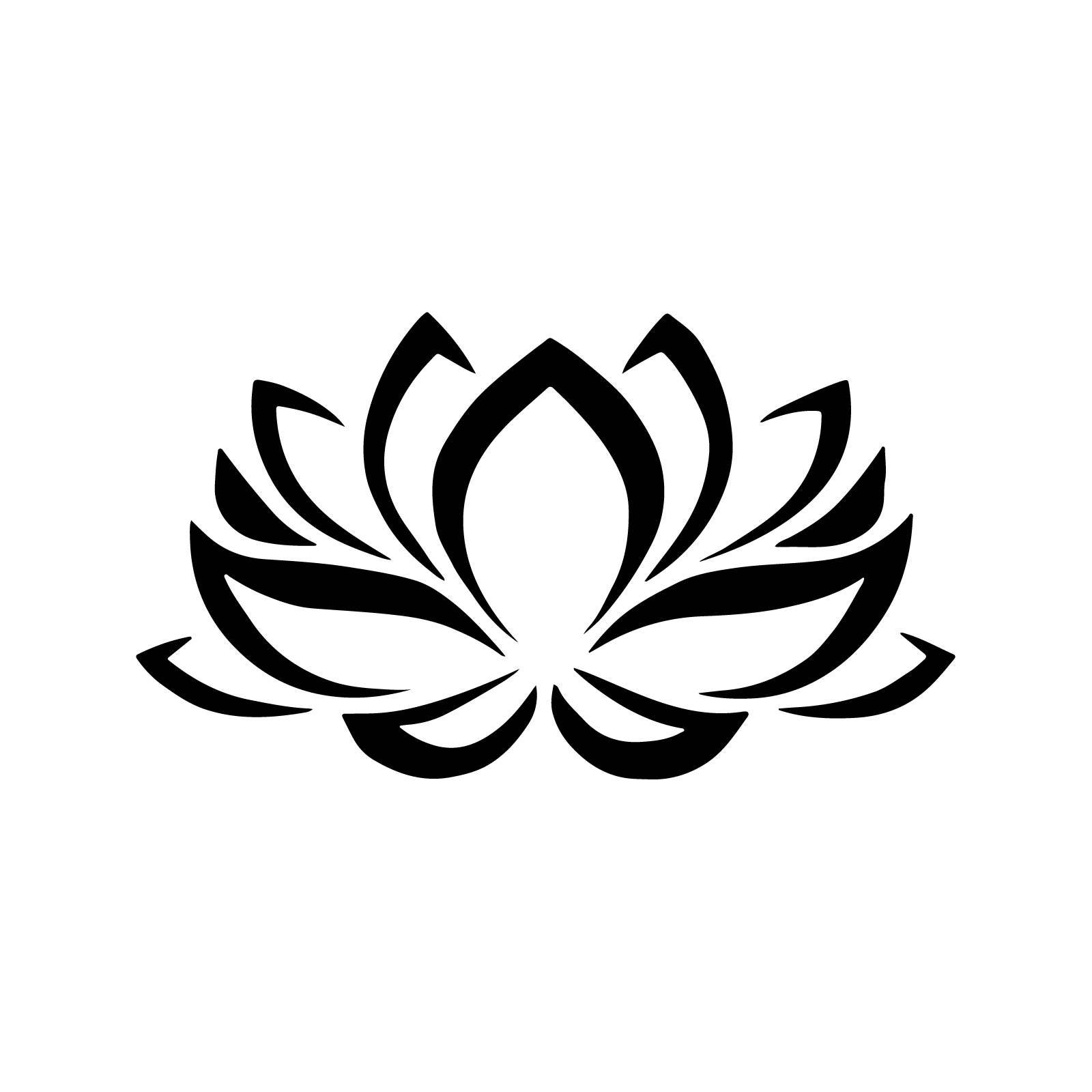 Stencil floral lotus flower stencil decoration 5 sizes svg pdf - Fleur de lotus symbole ...