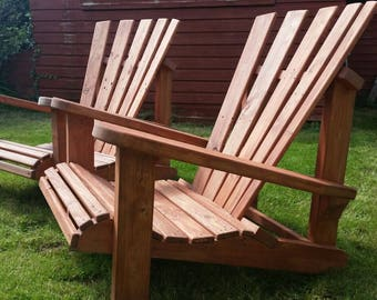 2 Wooden Garden Chairs perfect for summer relaxing