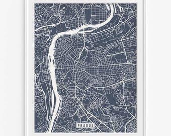 Prague Print, Czech Republic Poster, Prague Poster, Prague Map, Czech Republic Print, Street Map, Czech Republic Map, Valentines Day Gift