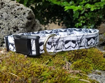 Stormtrooper Pattern Dog Collar