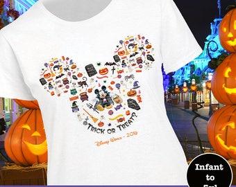 Mickey Halloween Shirt, Mickey Tick Or Treat Shirt, Disney Halloween Shirt