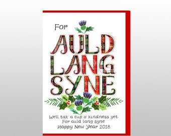 New Year 2018 Auld Lang Syne Card WWXM105