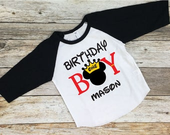 Birthday Boy. Mickey Mouse. Birthday Shirt. Disney Birthday Shirt. Mickey. Disneyland. Disney Birthday. Mickey Mouse Birthday.