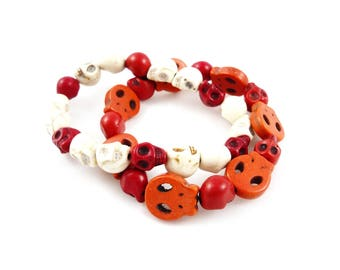 Duo colored Rock - Skull bracelets