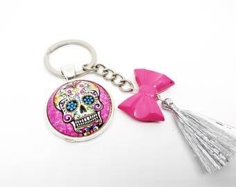 Skull Keychain Calaveras - Mexican - sugar skull - dia los muertos - day of the dead