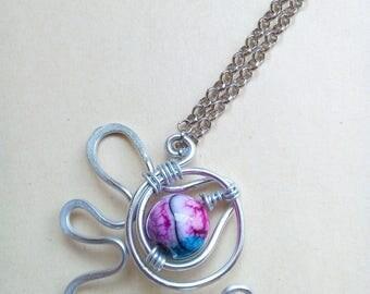 Multicolor stone pendant