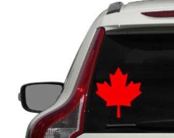 Maple Leaf Decal - Vinyl Sticker, Vinyl Decal - Car Decal, Laptop Sticker, Window or Bumper Sticker