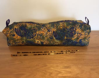 Quilted Knitting Bag for long needles