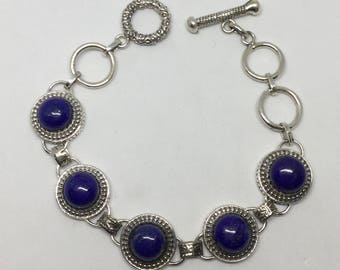 Lapis sterling bracelet