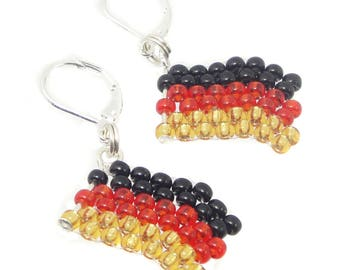 Earrings - Germany flag - football World Cup 2018 - merchandise (BS-1106)