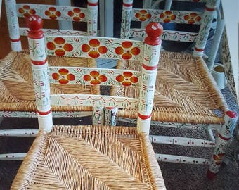 Set of 4 Adult Mexican Chairs. (RARE)