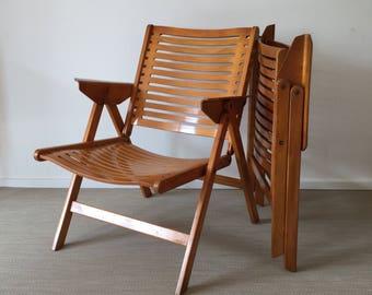 Set of 2 Niko Kralj Rex Lounge Chair, folding chair, folding chair