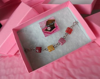 Miniature starbusts bracelet, kawaii, sweet, dreamy, lolita, fairy kei, decora, treats, candy, harajuku, treats, faux