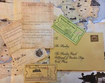 Red Dead Redemption Letter & Ticket Set