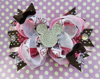 Classic Minnie Mouse Mickey Mouse Disney Spike Tail OTT Hair Bow