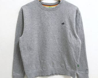 RARE!!! Hang Ten Surf Hawaii Small Logo Embroidery Crew Neck Grey Colour Sweatshirts Hip Hop Swag M Fit S Size