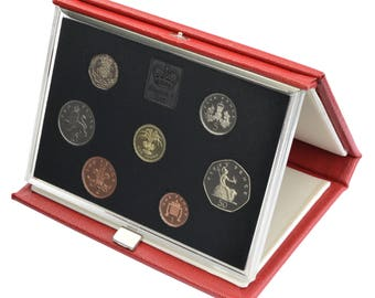 1985 Royal Mint Proof Set Red Leather Deluxe
