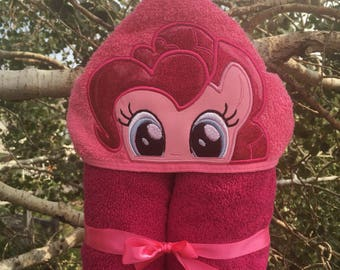 Pinkie Pie Inspired Hooded Bath Towel
