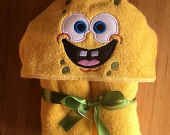 Spongebob Inspired Hooded Bath Towel
