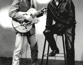 Eddie Cochran and Gene Vincent Rockabilly Legends - 5X7, 8X10 or 11X14 Publicity Photo (AZ058)