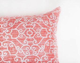 Coral Bolster Pillow, Orange, Outdoor Pillow, Outdoor Bolster, Pillow, Orange Pillow, Outdoor Pillows Coral, Coral Pillow, Bolster Pillow