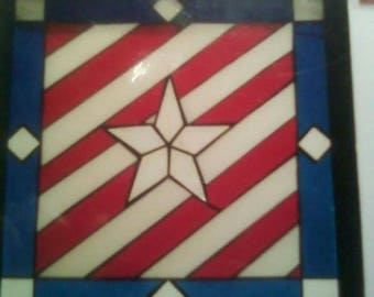 Star and stripes stained glass