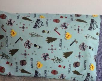 Boy Scout pillowcase, scout oath bedding, standard pillowcase, blue pillowcase,boys bedding, camping pillowcase