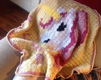 Unicorn baby blanket-Corner to corner