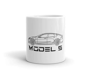Tesla Model S Electric Car Coffee Mug