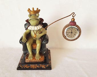 Frog King On Throne Clock