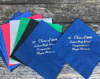 Class of 2018 Personalized Graduation Napkins