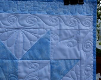 Doll quilt in light blues - ENTIRE purchase price to charity