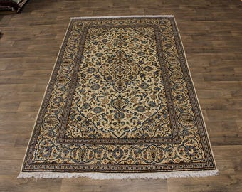 6X10 Great Shape Traditional Kashan Persian Rug Oriental Area Carpet 6'4X10'5