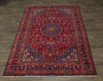 Stunning Unique Traditional Sabzevar Mashad Persian Rug Oriental Carpet 6X10