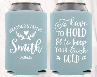 Personalized Wedding Can Cooler