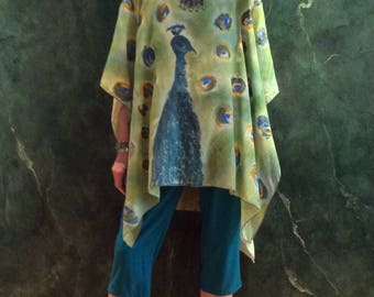 The Peacock Silk tunic