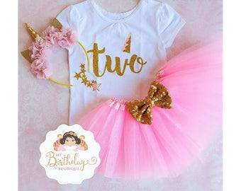 Unicorn 2nd Birthday tutu outfit,2nd Birthday Outfit Girl,Twinkle Twinkle first Birthday,Girls 2nd Birthday Outfit Unicorn,TWO tutu set