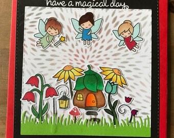 Handmade Fairy Card