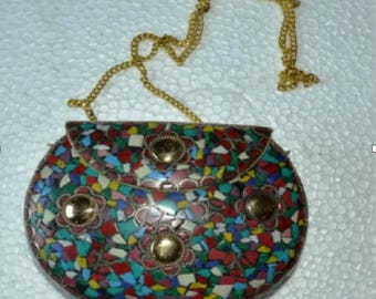 Hand-crafted Indian Metal Purse