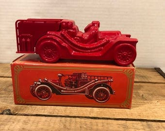 Etonnant Vintage Fire Fighter Truck 1910 Avon Wild Country After Shave Bottle And  Box No Liquid ,