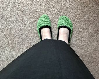 Crochet Slippers, Ballerina slippers, House shoes, Cute slippers, Comfortable footwear, Crochet footwear, Slip-ons, foot warmers, Slippers