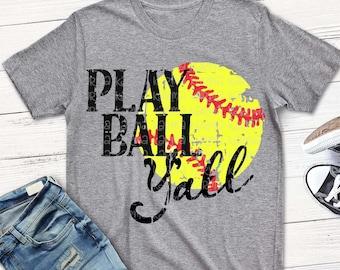 softball svg, softball svg, Play Ball Y'all svg, Softball Mom svg, distressed Softball svg, dxf, eps, png, Softball svg, shortsandlemons