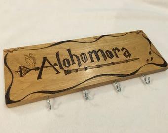 Harry Potter Inspired Alohomora Key Rack