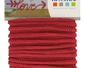 5 meter wire knitting red - string Roouge 5mm - 13001052