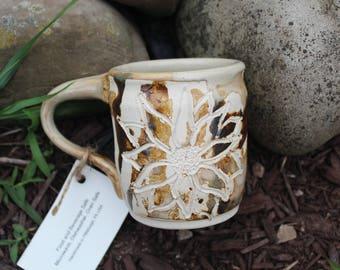 Handmade Ceramic Flower Mug