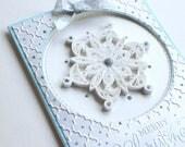 Carte de Noël - carte de quilling - piquants carte flocon de neige