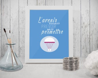 Inspirational Le Petit Prince, room, gift, baby birth, balloon illustration baby gift
