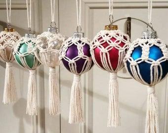 Macrame Ball Ornaments